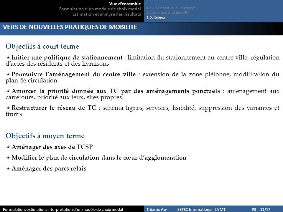 BASE DE DONNEES POUR LE CALIBRAGE DE MODELES DE CHOIX MODAL 2.1.