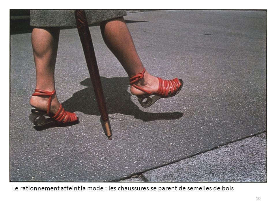 Le rationnement atteint la mode : les chaussures se parent de semelles de bois 10