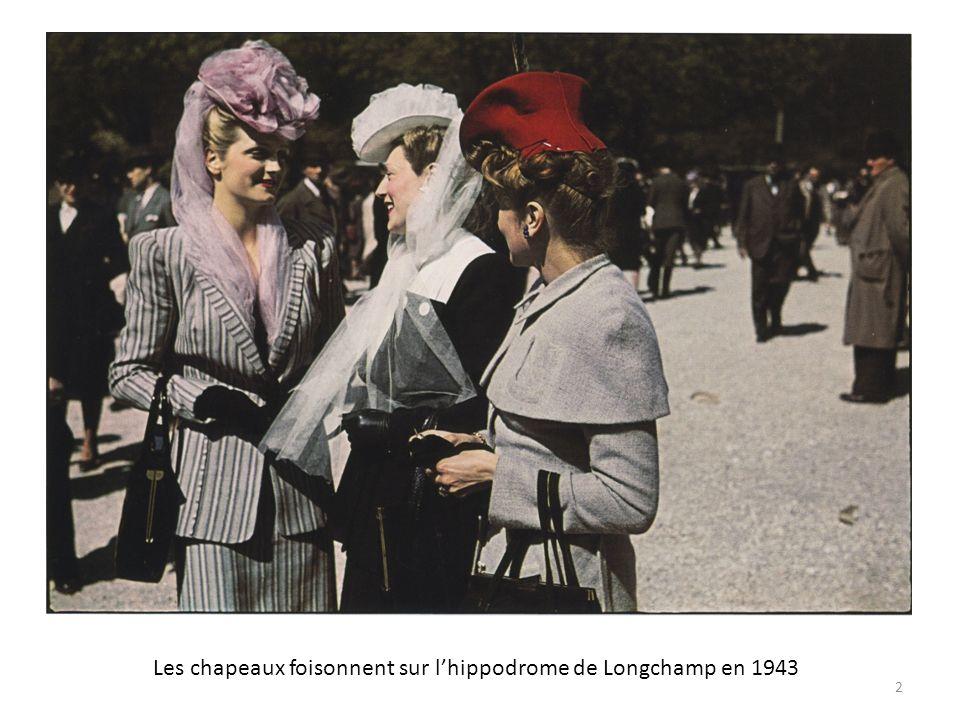 Les chapeaux foisonnent sur lhippodrome de Longchamp en 1943 2