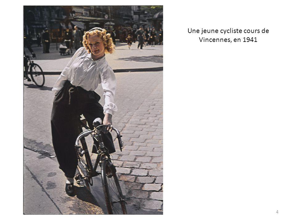 Une jeune cycliste cours de Vincennes, en 1941 4
