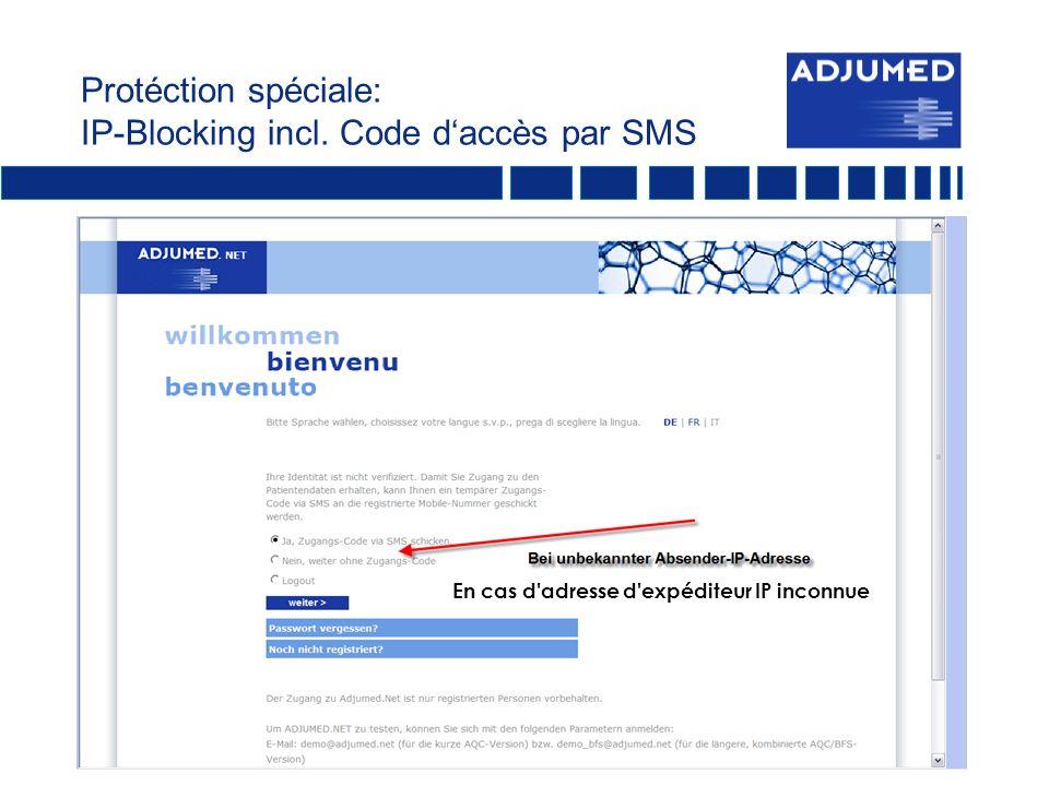 Protéction spéciale: IP-Blocking incl.