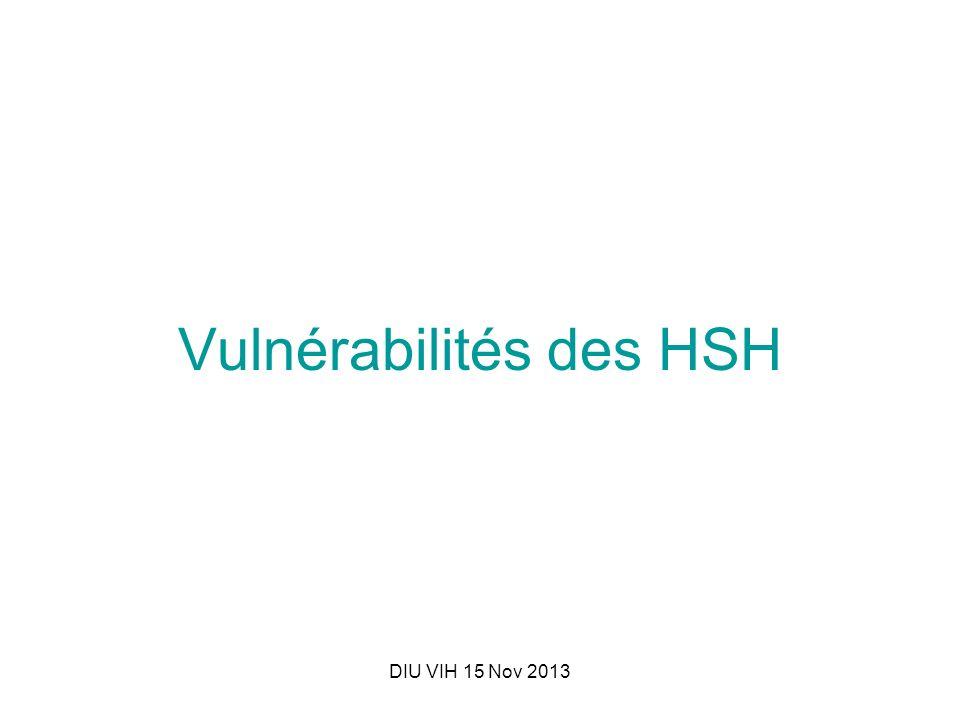 DIU VIH 15 Nov 2013 Vulnérabilités des HSH