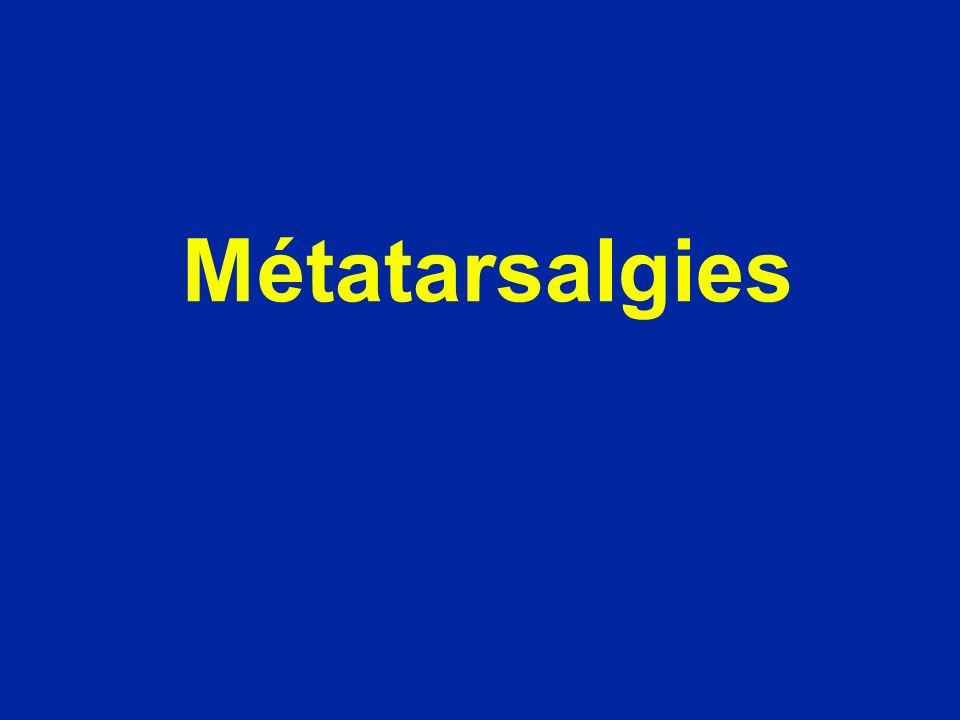 Métatarsalgies