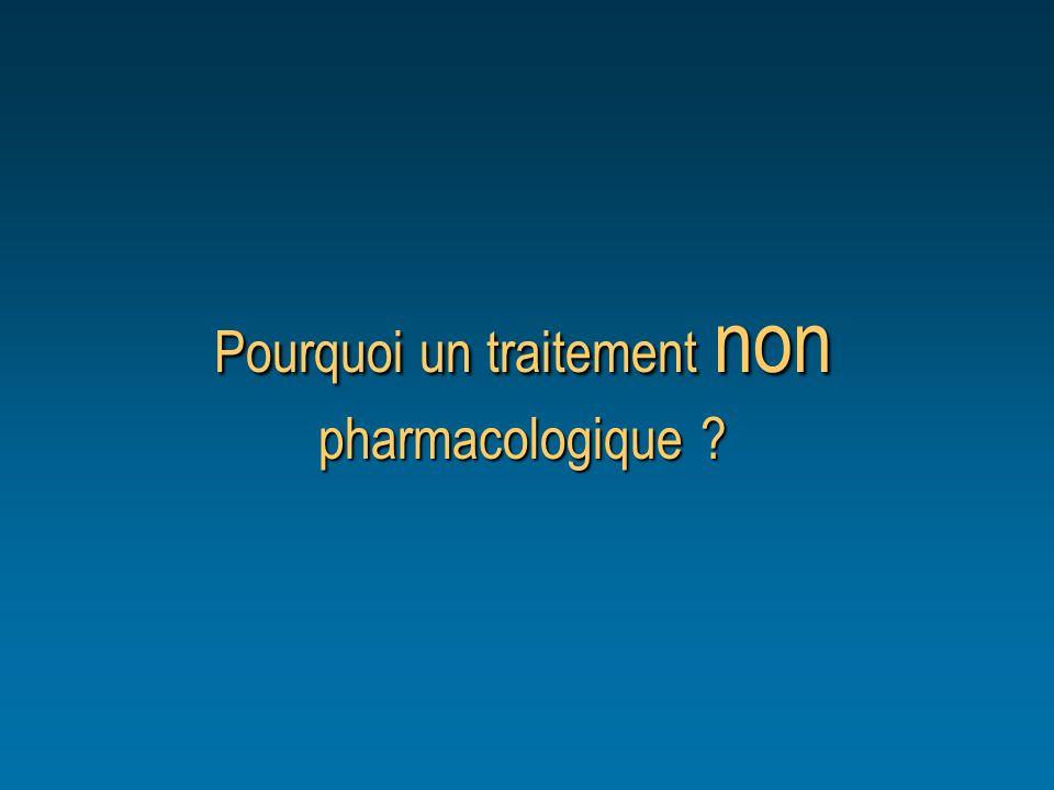Pourquoi un traitement non pharmacologique ?