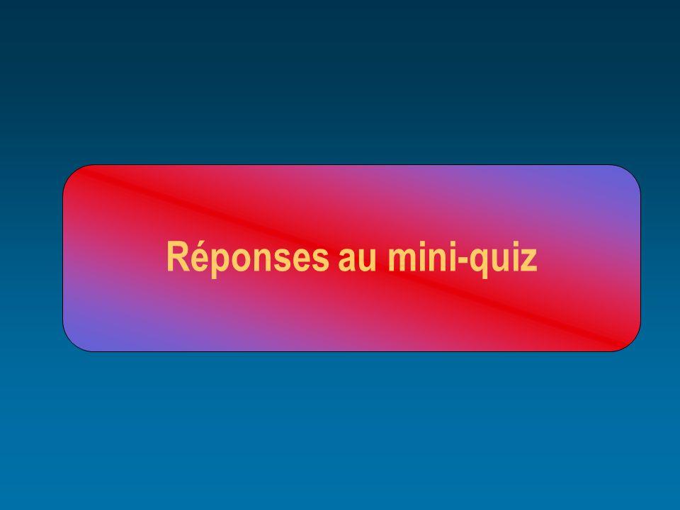 Réponses au mini-quiz