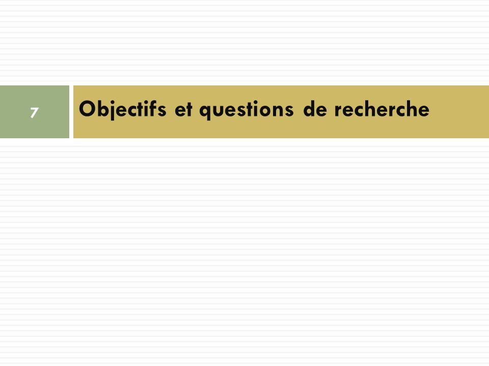 Objectifs et questions de recherche 7