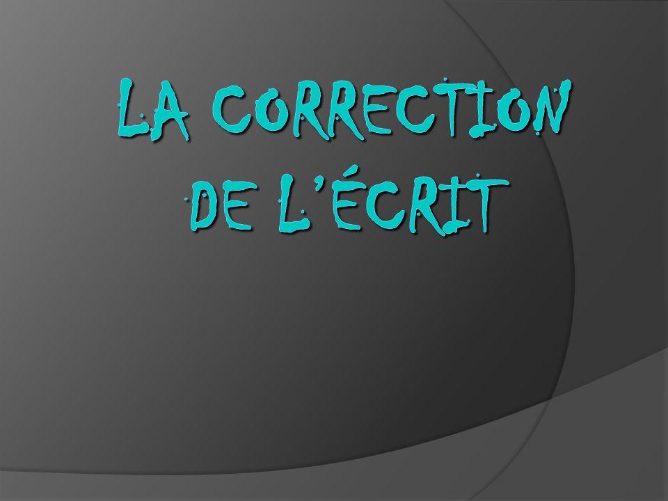 La correction de lécrit rebute souvent les enseignants, les nouveaux comme les plus anciens, car ils ne savent pas toujours comment sy prendre.