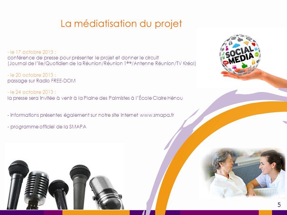 La médiatisation du projet - le 17 octobre 2013 : conférence de presse pour présenter le projet et donner le circuit (Journal de lile/Quotidien de la