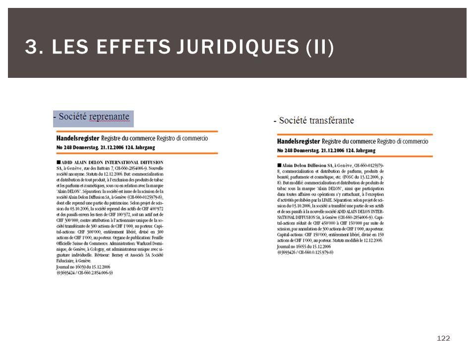 122 3. LES EFFETS JURIDIQUES (II)