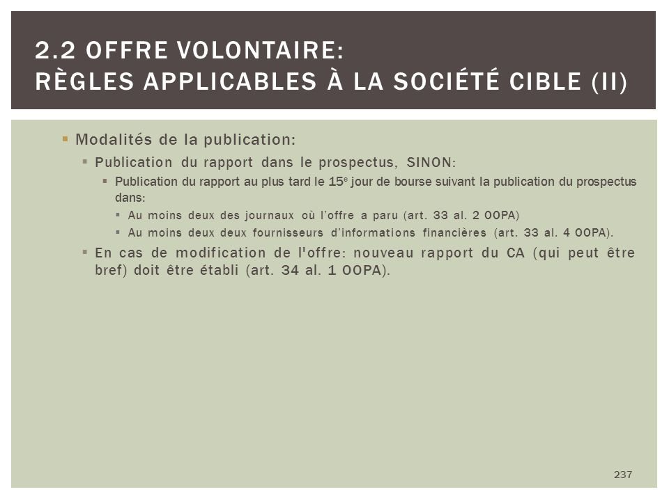 Modalités de la publication: Publication du rapport dans le prospectus, SINON: Publication du rapport au plus tard le 15 e jour de bourse suivant la p
