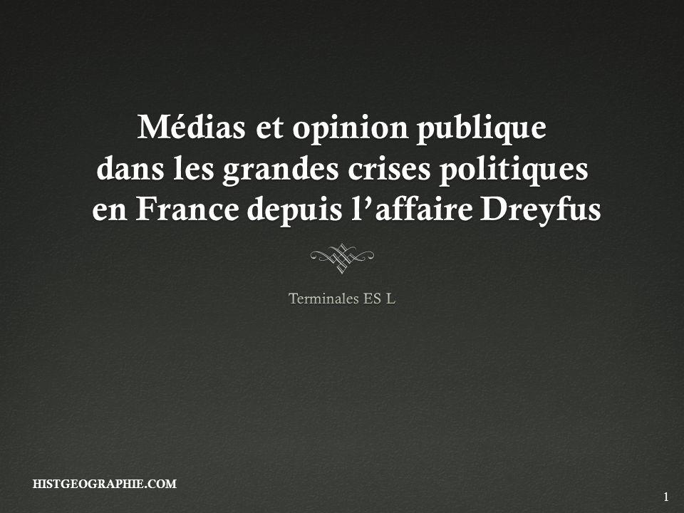 Médias et opinion publique dans les grandes crises politiques en France depuis laffaire Dreyfus HISTGEOGRAPHIE.COM 1