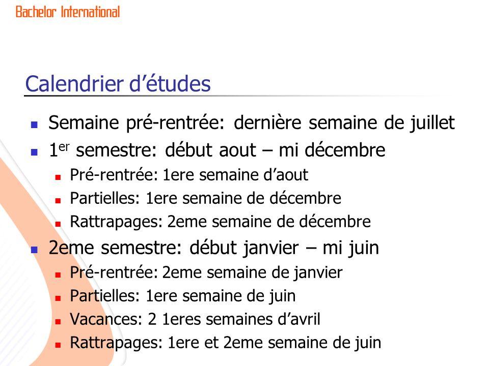 Programme de cours Les matieres etudiees lors de notre echange etaient quasiment les memes pour les etudiants de La Rochelle.