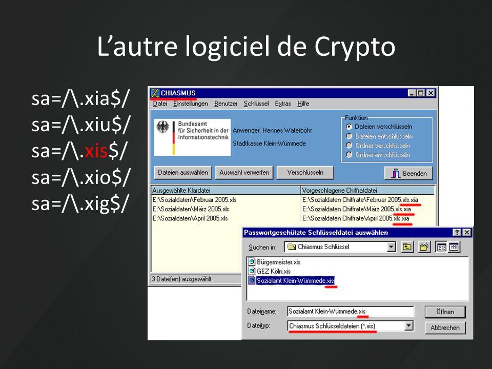 Lautre logiciel de Crypto sa=/\.xia$/ sa=/\.xiu$/ sa=/\.xis$/ sa=/\.xio$/ sa=/\.xig$/