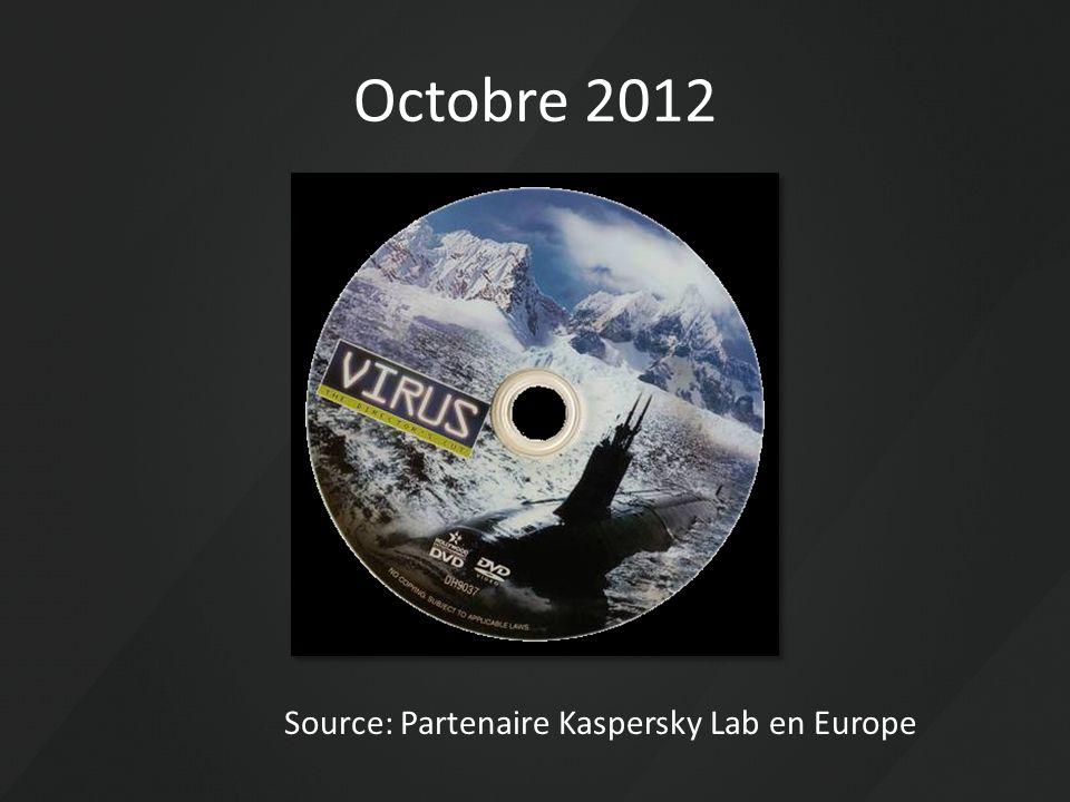 Octobre 2012 Source: Partenaire Kaspersky Lab en Europe