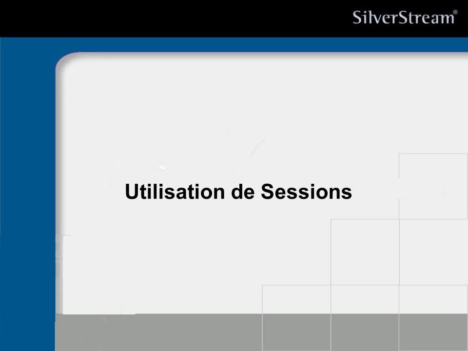 Utilisation de Sessions