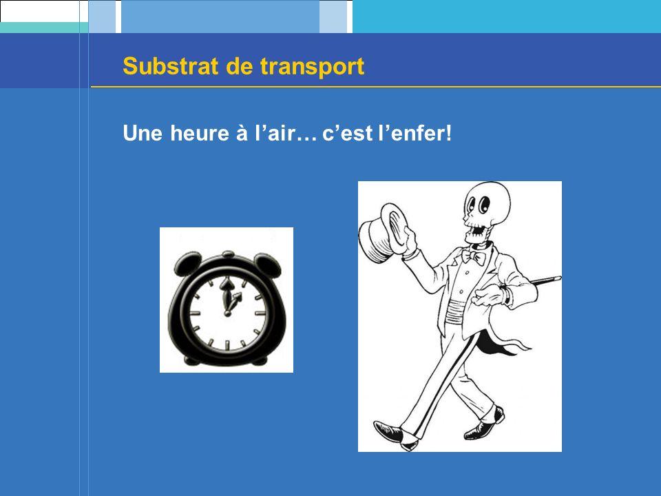 Substrat de transport Une heure à lair… cest lenfer!