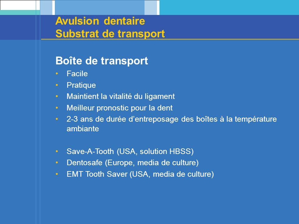 Avulsion dentaire Substrat de transport Boîte de transport Facile Pratique Maintient la vitalité du ligament Meilleur pronostic pour la dent 2-3 ans d