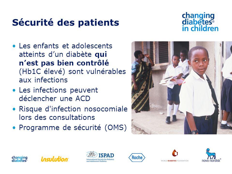 Les enfants et adolescents atteints dun diabète qui nest pas bien contrôlé (Hb1C élevé) sont vulnérables aux infections Les infections peuvent déclenc