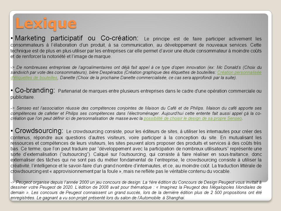 CAS DENTREPRISE: Marketing Participatif chez Danette.