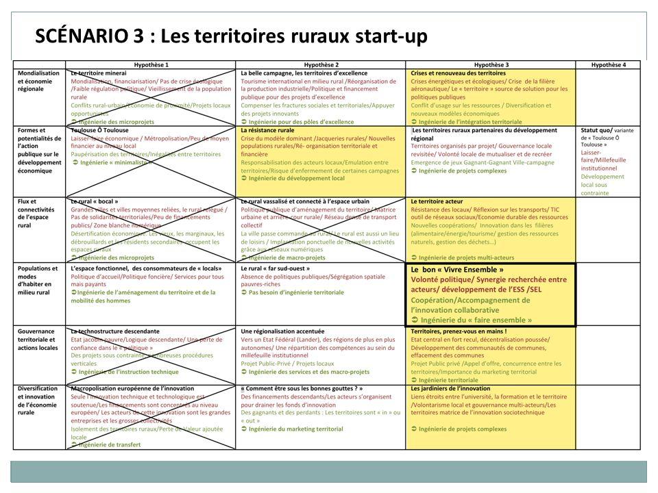 SCÉNARIO 3 : Les territoires ruraux start-up