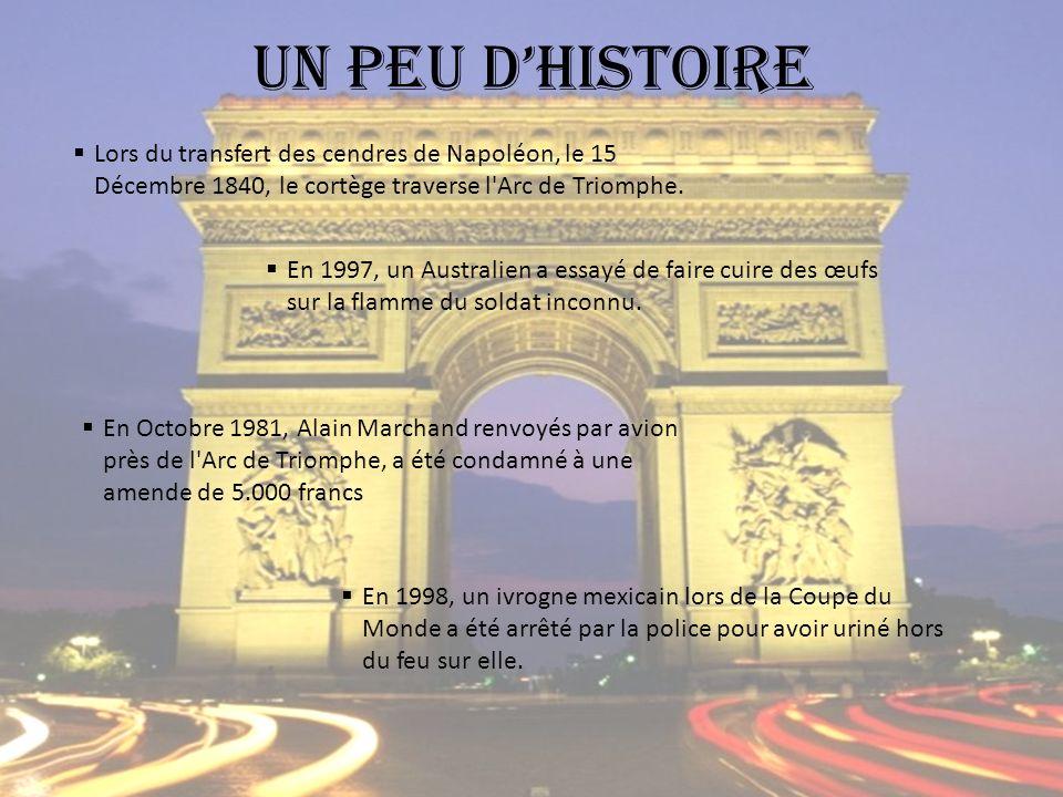 Lors du transfert des cendres de Napoléon, le 15 Décembre 1840, le cortège traverse l Arc de Triomphe.