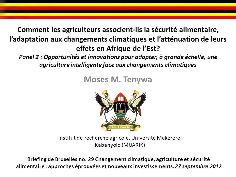 Comment les agriculteurs associent-ils la sécurité alimentaire, ladaptation aux changements climatiques et latténuation de leurs effets en Afrique de