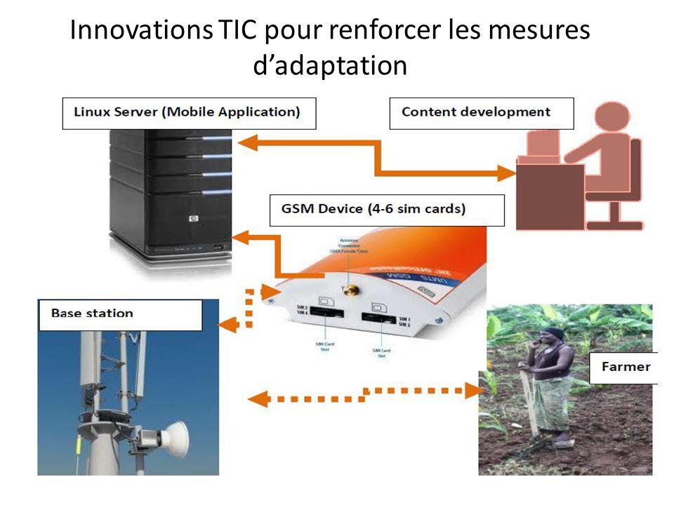 Innovations TIC pour renforcer les mesures dadaptation