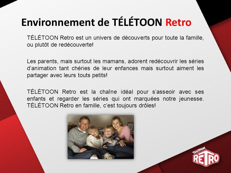 Environnement de TÉLÉTOON Retro TÉLÉTOON Retro est un univers de découverts pour toute la famille, ou plutôt de redécouverte.