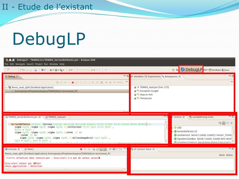 DebugLP II - Etude de lexistant