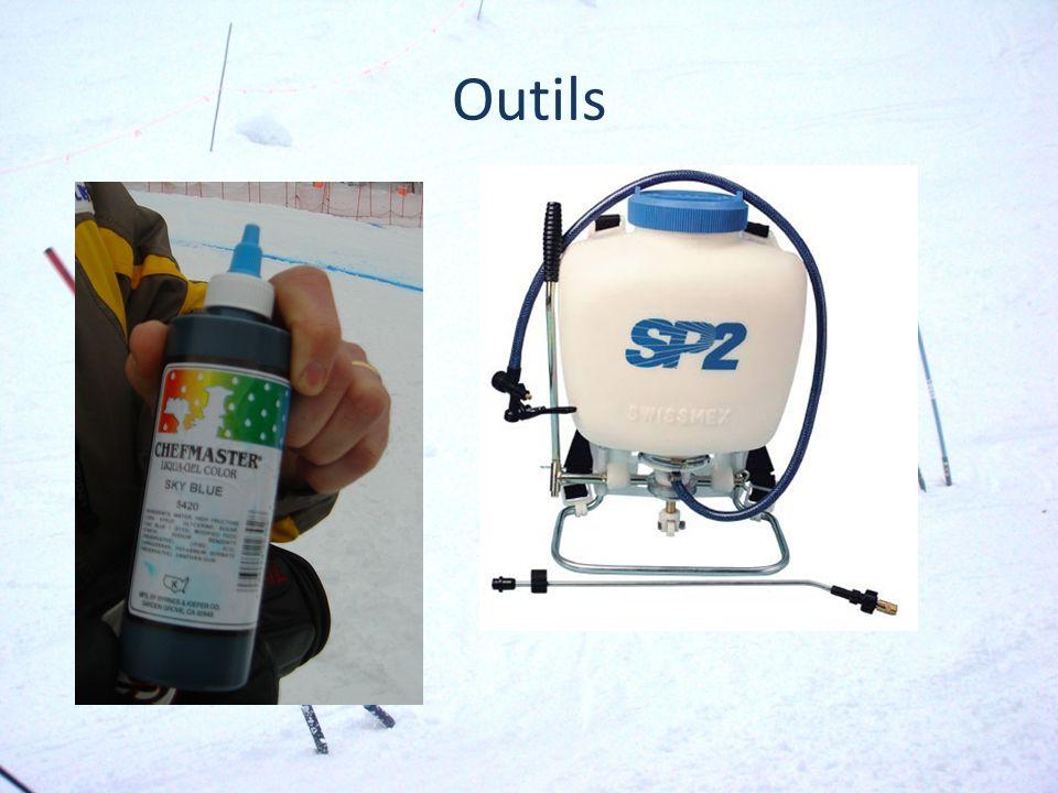 Quand appliquer Avant linspection La mélange du colorant est préparé et appliqué avant l inspection du parcours.
