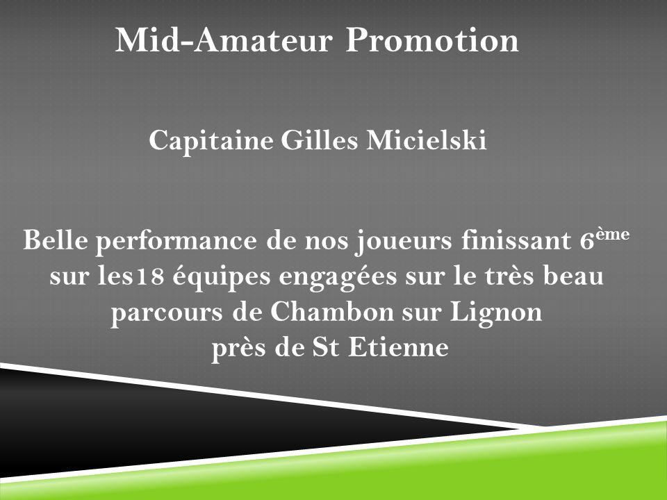 Belle performance de nos joueurs finissant 6 ème sur les18 équipes engagées sur le très beau parcours de Chambon sur Lignon près de St Etienne Capitai