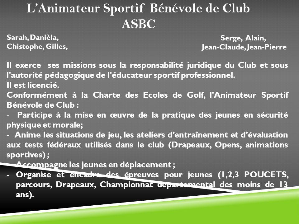 Il exerce ses missions sous la responsabilité juridique du Club et sous lautorité pédagogique de léducateur sportif professionnel. Il est licencié. Co