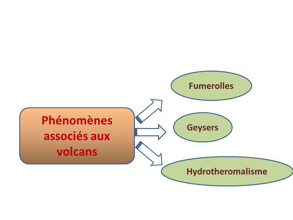Phénomènes associés aux volcans Fumerolles Geysers Hydrotheromalisme