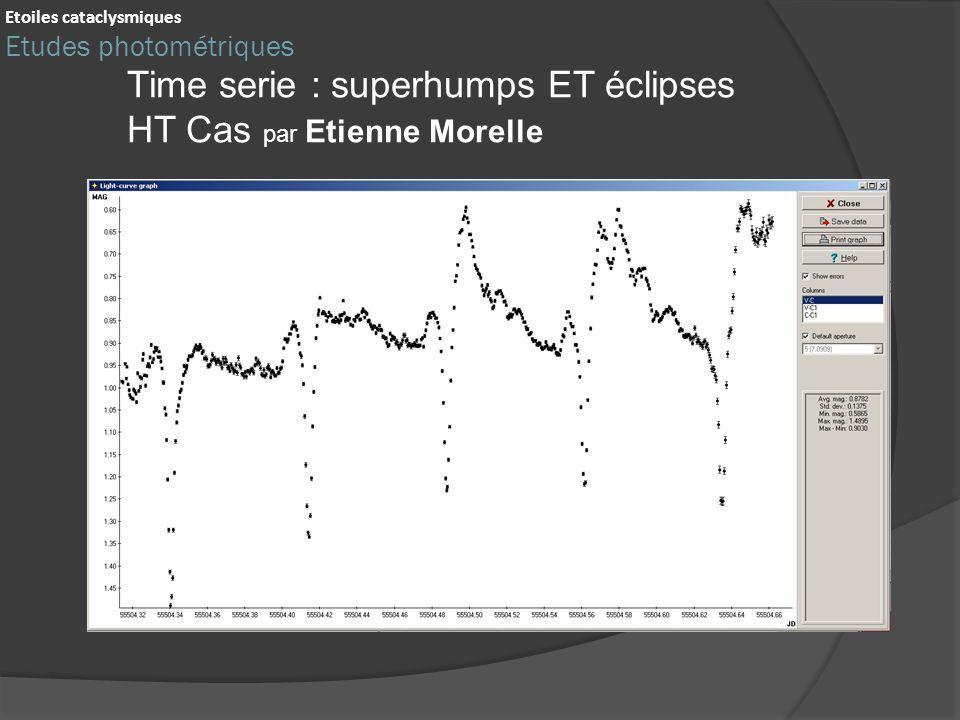 Time serie : superhumps ET éclipses HT Cas par Etienne Morelle Etoiles cataclysmiques Etudes photométriques