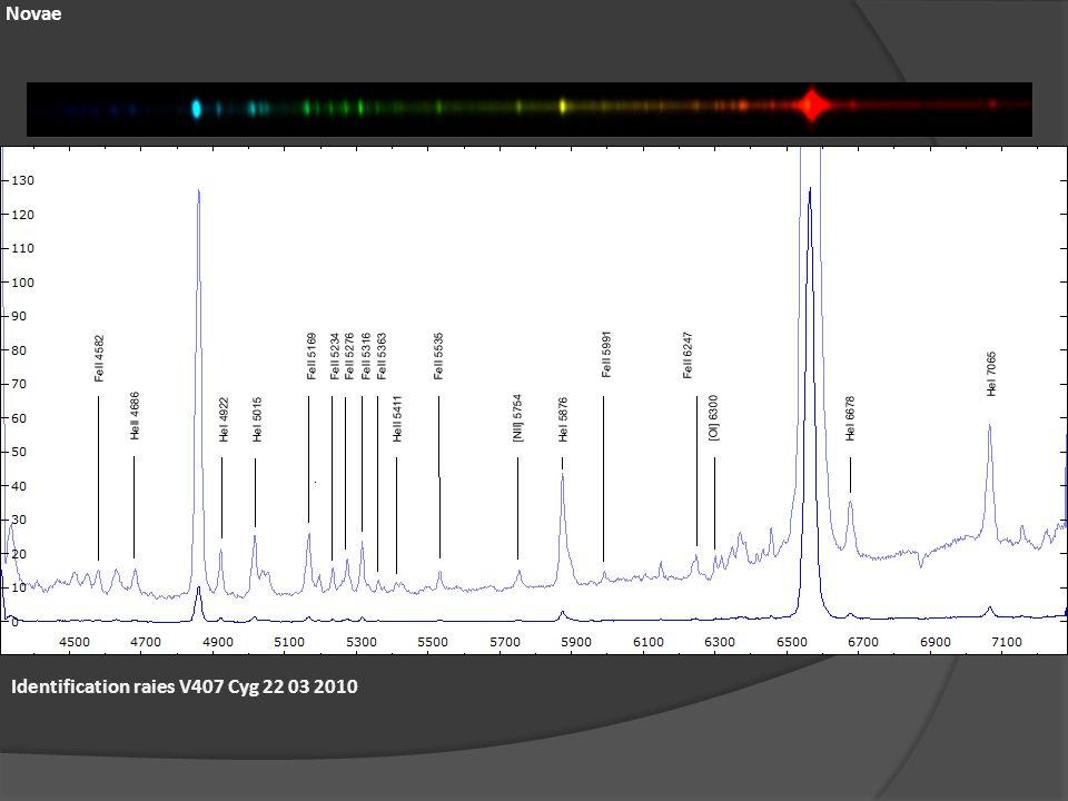 Novae Identification raies V407 Cyg 22 03 2010