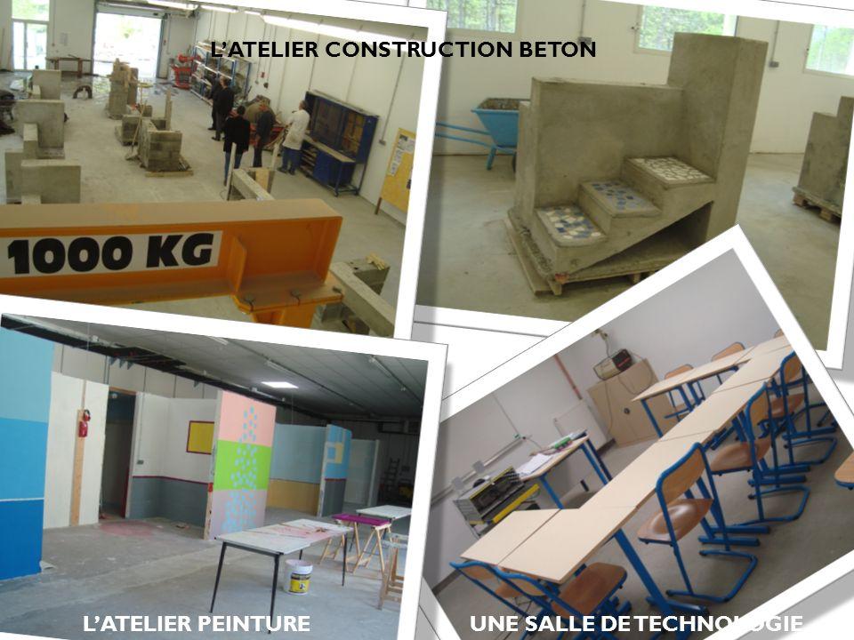 LATELIER PEINTURE LATELIER CONSTRUCTION BETON UNE SALLE DE TECHNOLOGIE