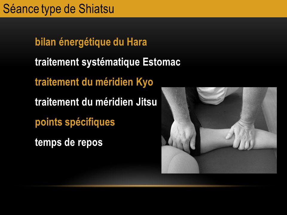 bilan énergétique du Hara traitement systématique Estomac traitement du méridien Kyo traitement du méridien Jitsu points spécifiques temps de repos Sé