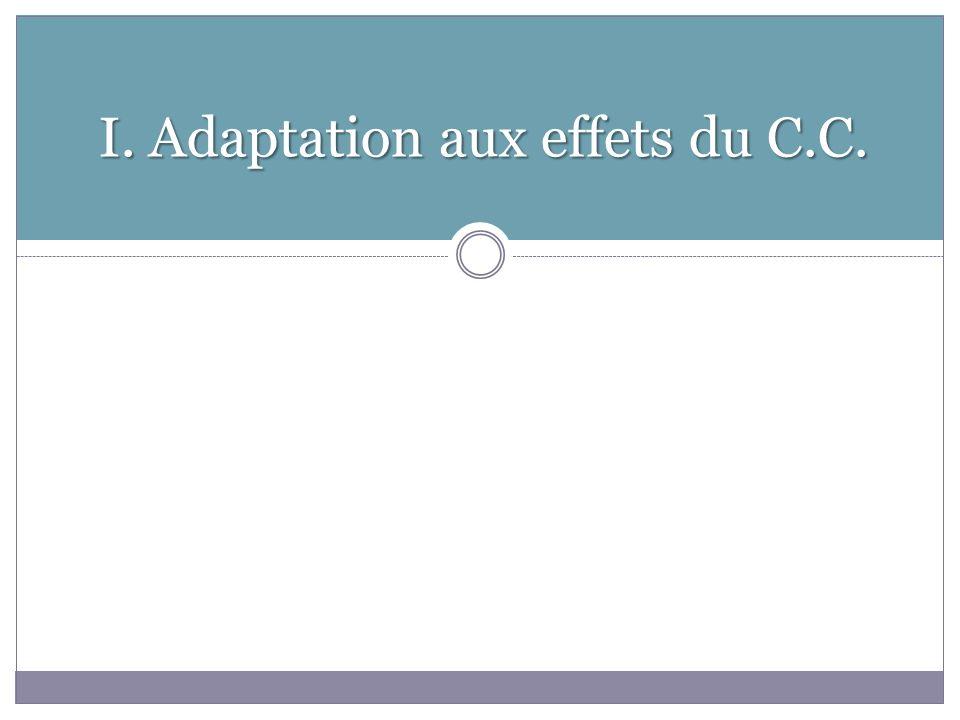 I. Adaptation aux effets du C.C.