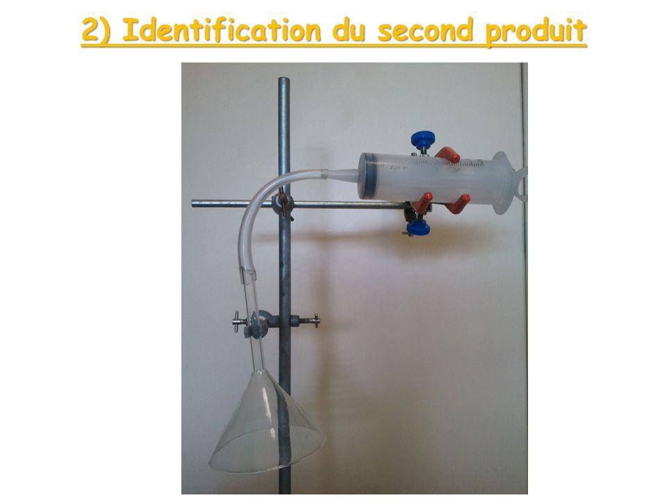 Observation : En présence du gaz, leau de chaux donne un précipité blanc (particule solide).