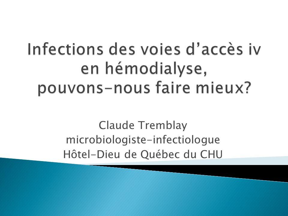 Sondage sur les mesures de prévention préconisées dans les centres dhémodialyse Trépanier P et al INSPQ 2013