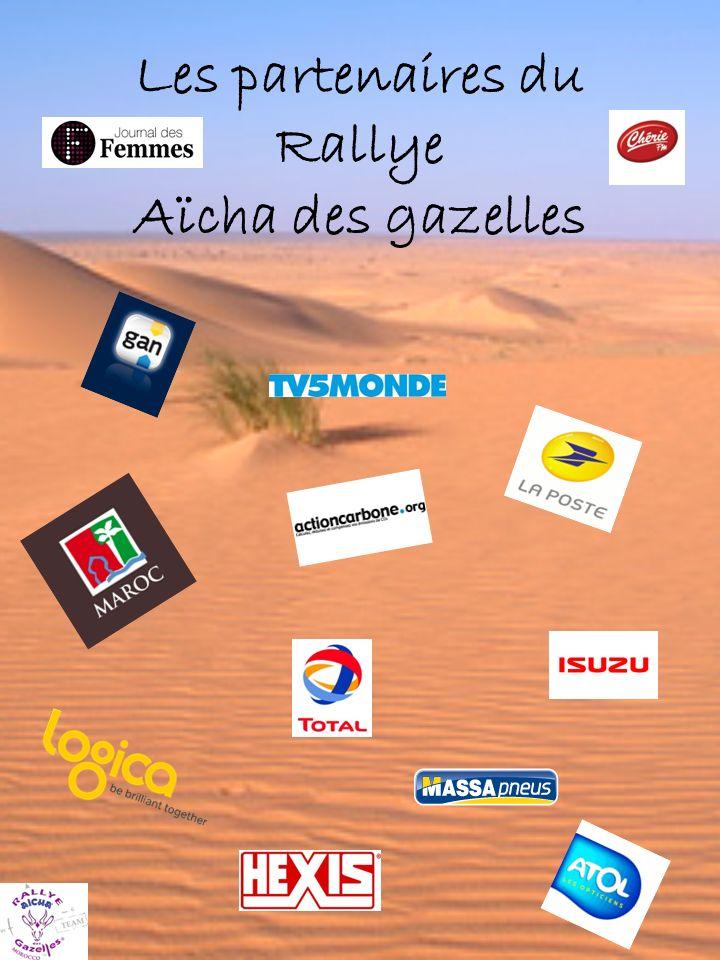 Les partenaires du Rallye Aïcha des gazelles