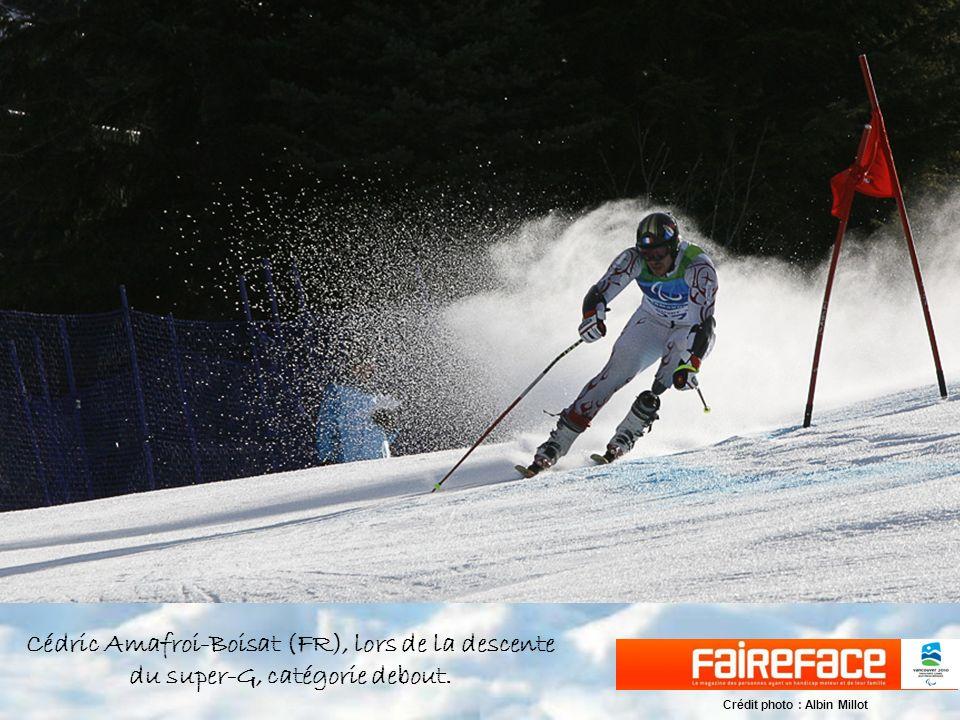 Cédric Amafroi-Boisat (FR), lors de la descente du super-G, catégorie debout.