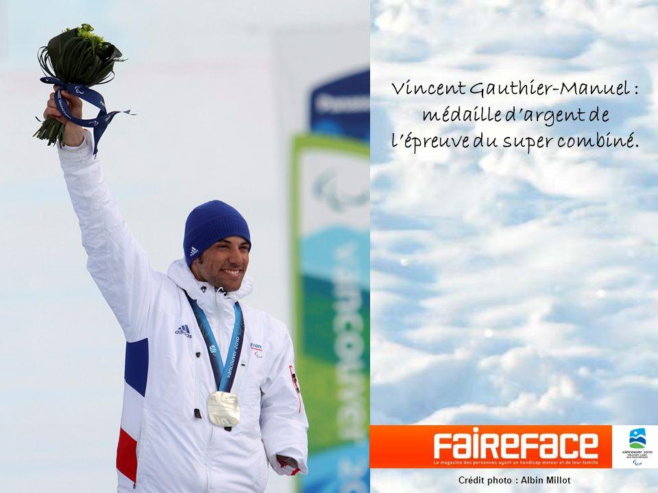 Vincent Gauthier-Manuel : médaille dargent de lépreuve du super combiné.