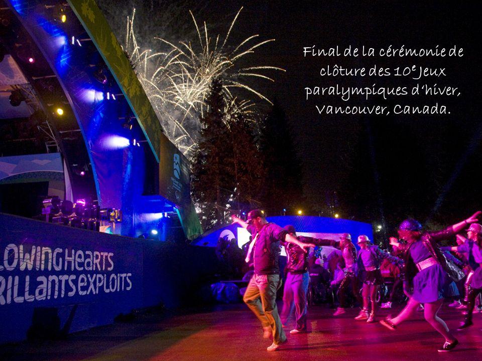 Final de la cérémonie de clôture des 10 e Jeux paralympiques dhiver, Vancouver, Canada.