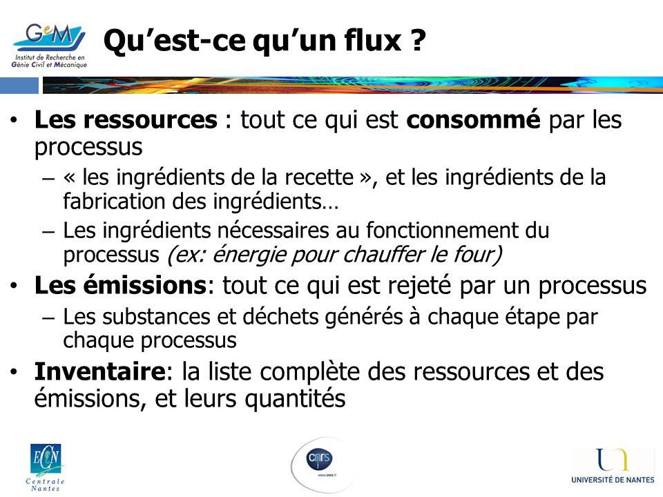 Quest-ce quun flux ? Les ressources : tout ce qui est consommé par les processus – « les ingrédients de la recette », et les ingrédients de la fabrica