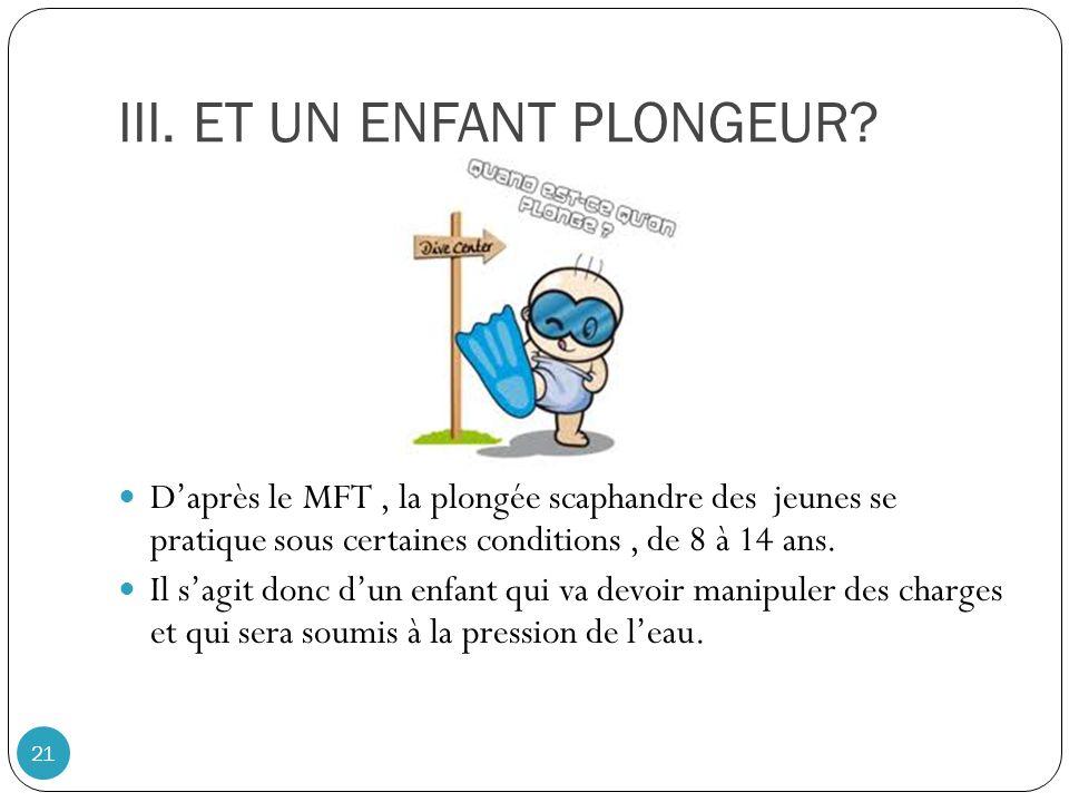 III.ET UN ENFANT PLONGEUR.