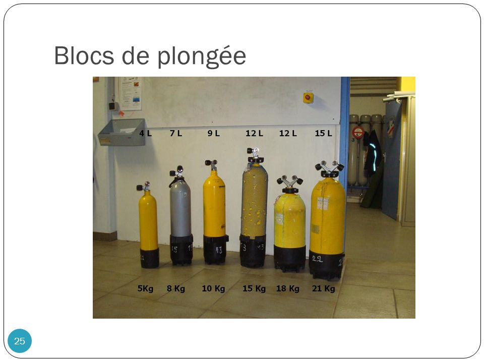 Blocs de plongée 25