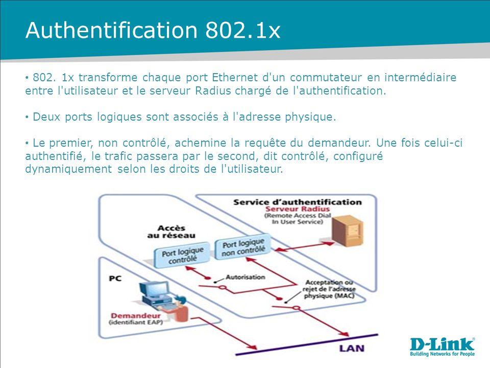 Authentification 802.1x 802.