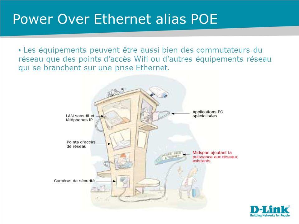 Les équipements peuvent être aussi bien des commutateurs du réseau que des points daccès Wifi ou dautres équipements réseau qui se branchent sur une prise Ethernet.