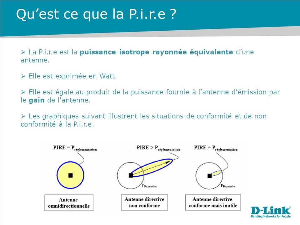 La P.i.r.e est la puissance isotrope rayonnée équivalente dune antenne.